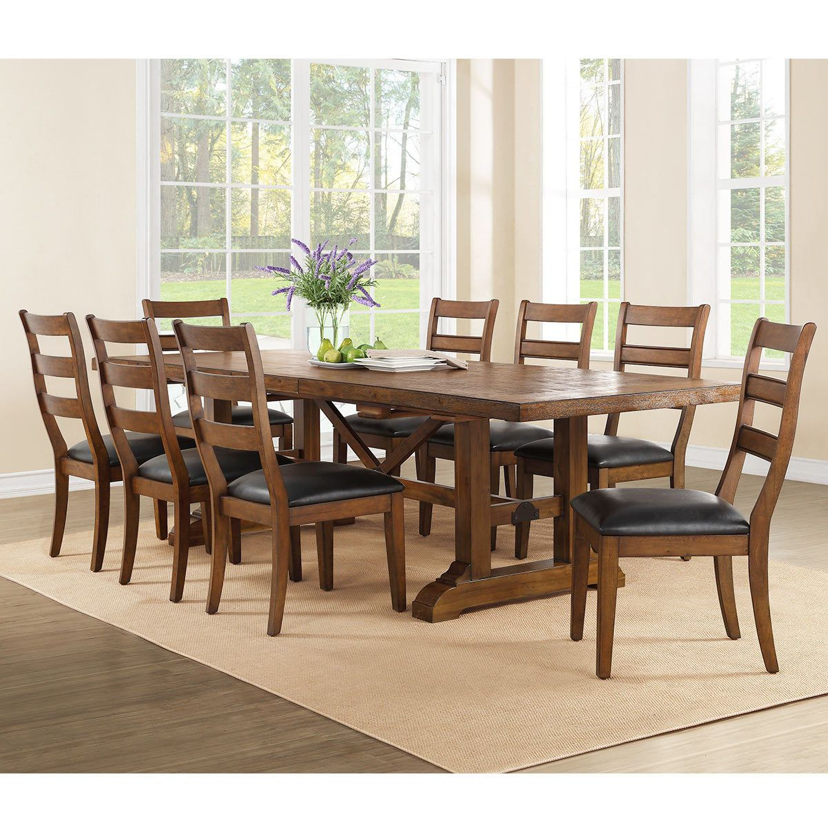 Bayside Furnishings Extending Dining Room Table 8 Chairs Costco Uk Bayside Furnishings Dining Table Dining Room Table Set