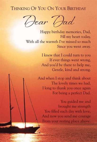 Happy Birthday Daddy.