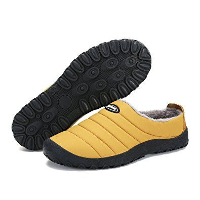 21983a21cee45 Voovix Men Women House Closed Back Slippers Warm Fur Lined Non Slip ...