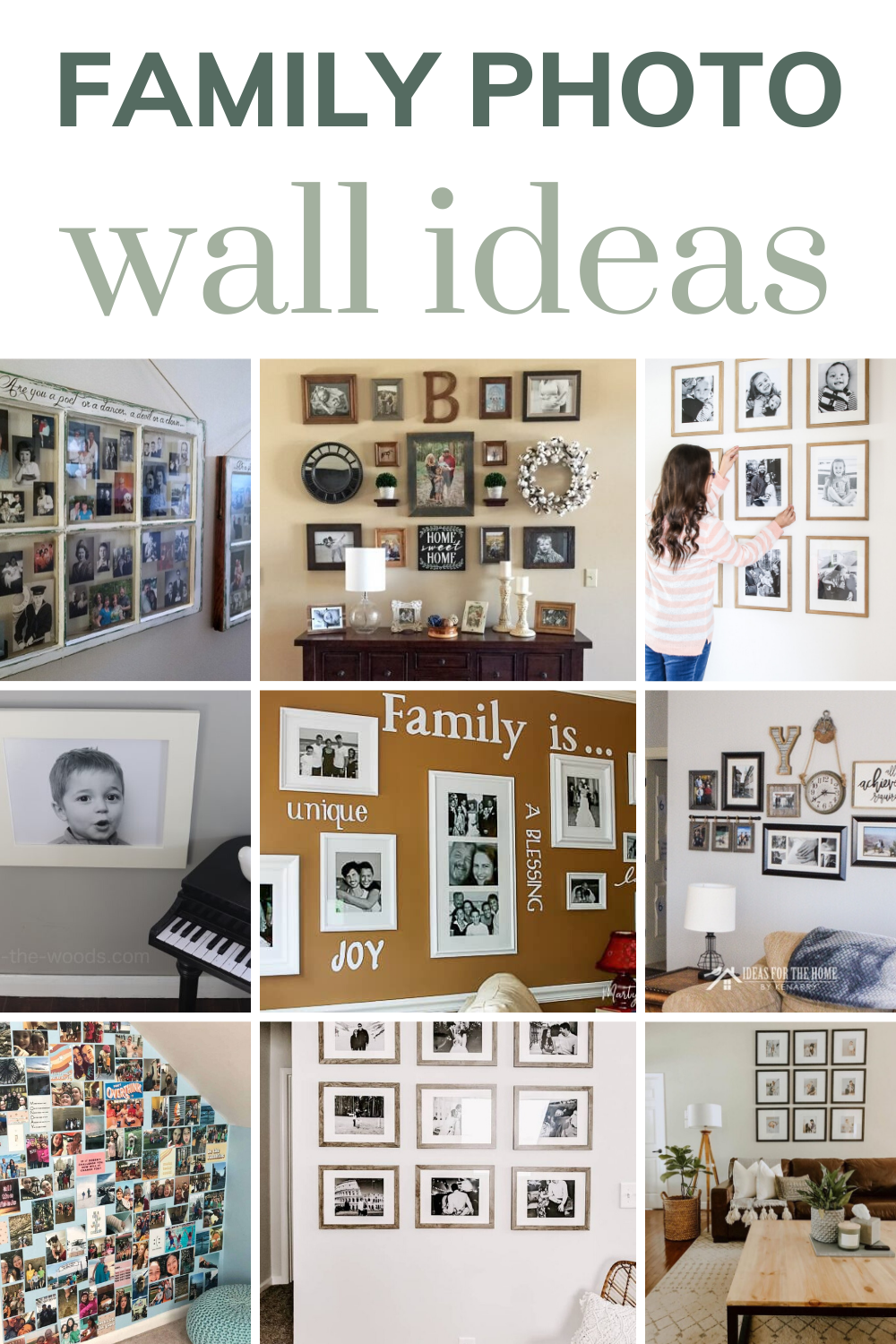 Check Out This Post For More Inspiration On How To Display Family Photos In Your Home Like In T In 2020 Family Photo Wall Family Photo Display Wall Photo Wall Display