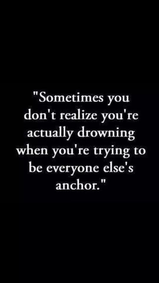 Being an anchor