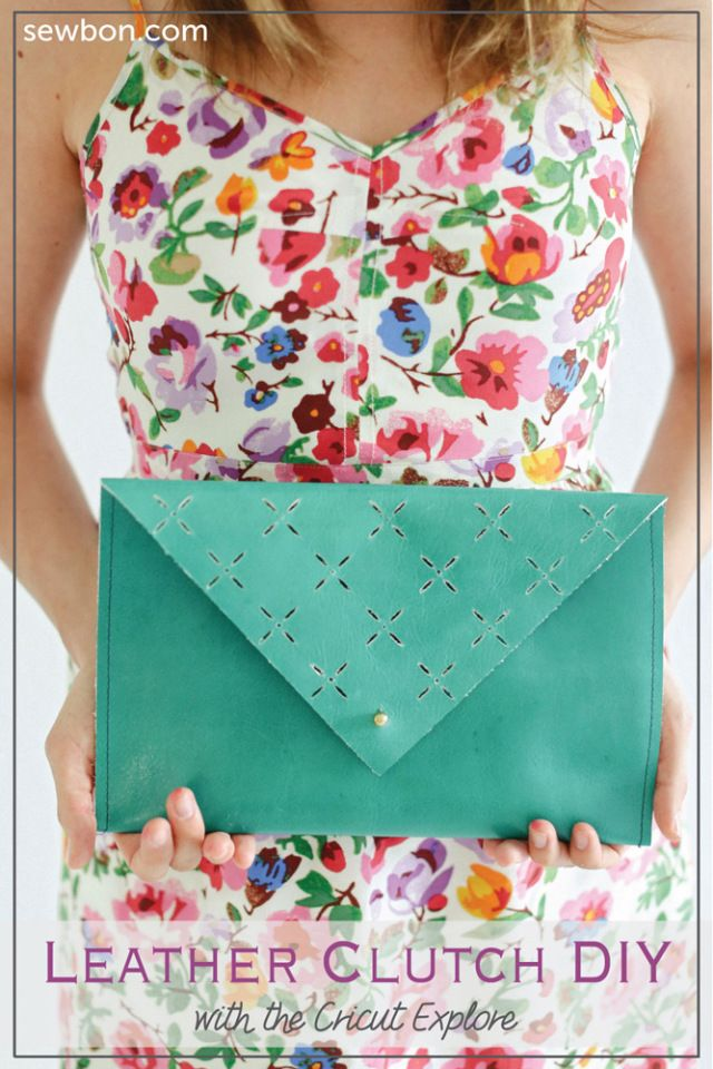 8e61aabbd1f9 Leather Cut Out Clutch DIY with the Cricut Explore by Sewbon.com ...