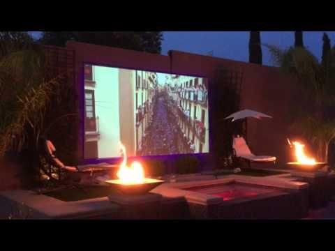 Backyard projector screen project   Projector screen, Diy ...