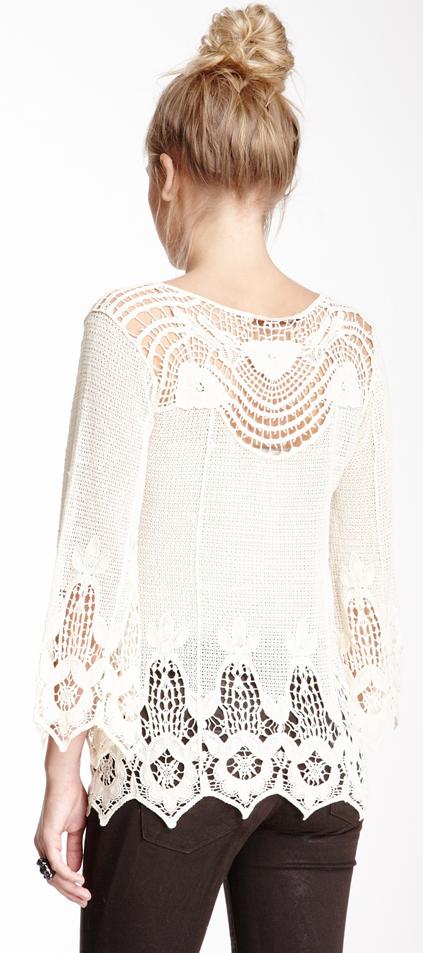Crochet lace sweater | Fashion | Moda, Ropa y Estilo