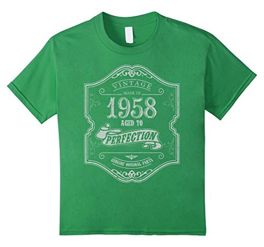 Vintage Made In 1958 Aged to Perfection - Birthday Shirt 58