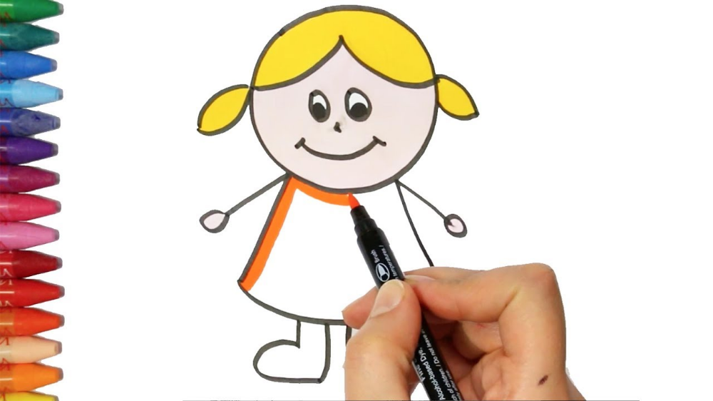 Dibujo De Nina Dibujando Buscar Con Google Dibujos Para Ninos Dibujos De Colores Como Dibujar