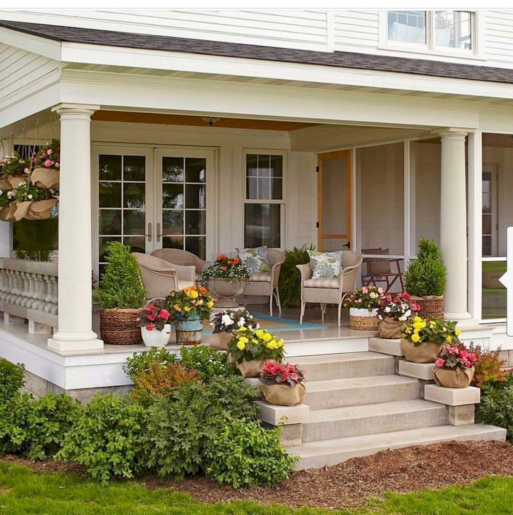 04 stunning farmhouse front porch decorating ideas with