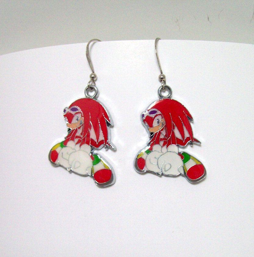 Sonic The Hedgehog Earrings Video Jewelry 8 00 Via Etsy