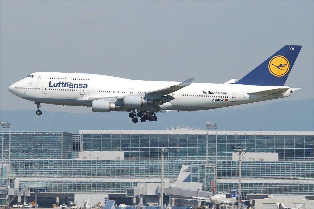 Lufthansa Boeing 747 430 D ABVW Wolfsburg at Frankfurt