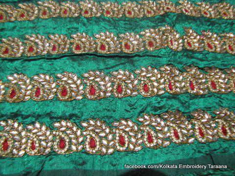 Hand Embroidery Paisley Baroque Persian Damask Kairi Ottoman