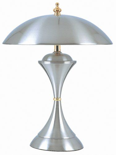 Ore International K314 15 Inch 25 Watt 3 Way Touch Lamp Brushed Steel Ore 54 Touch Lamp Touch Table Lamps Lamp