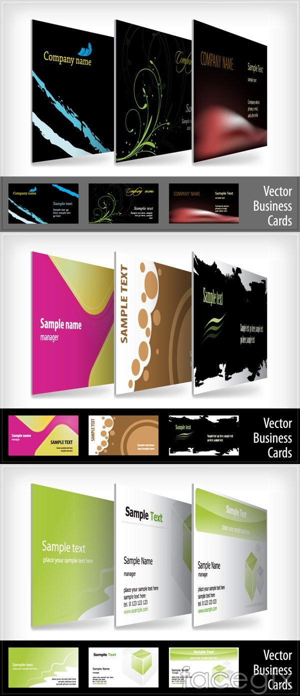Beautiful business card template vector | design | Pinterest | Card ...