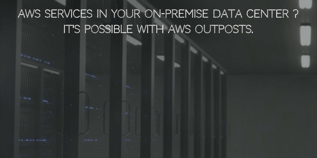 Aws services in your onpremise data center its possible