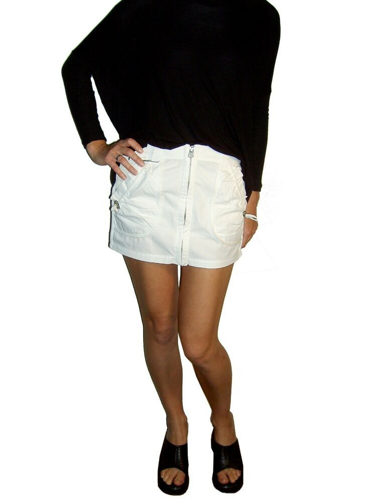 15056cdd57 RRP95 New auth AX Armani Exchange designer fitted mini skirt zip front XS  #fashion #
