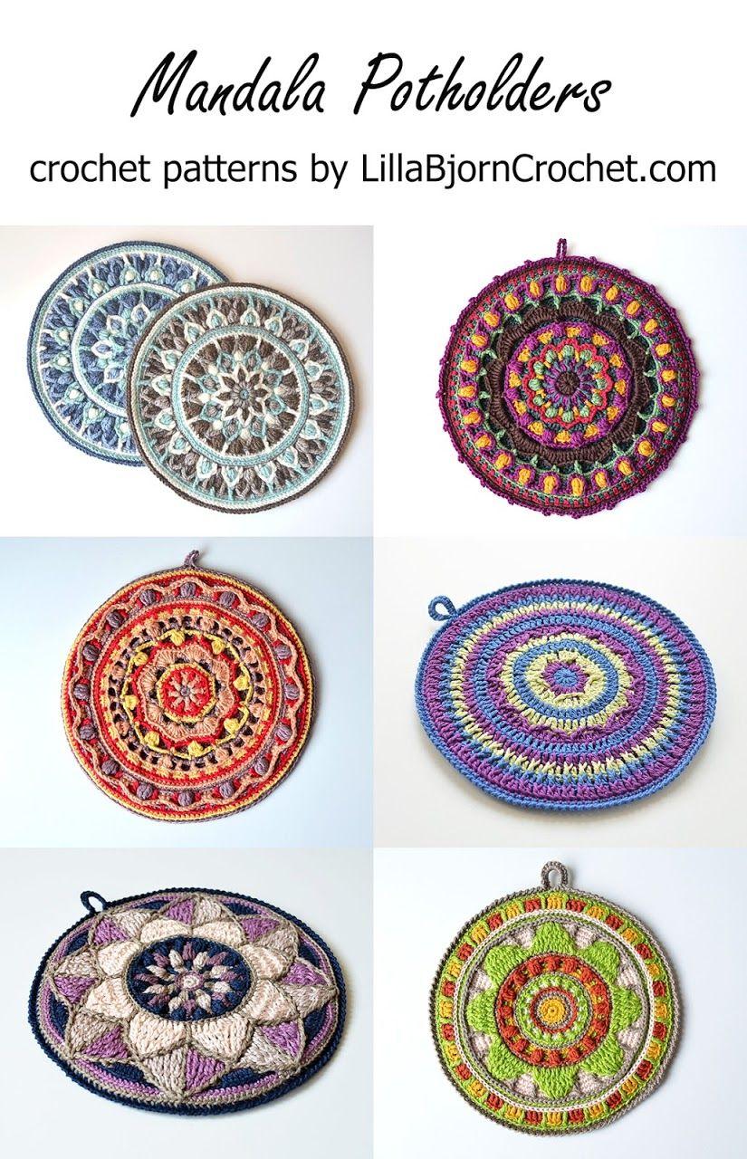 Mandala Potholders - crochet patterns by www.LillaBjornCrochet.com ...