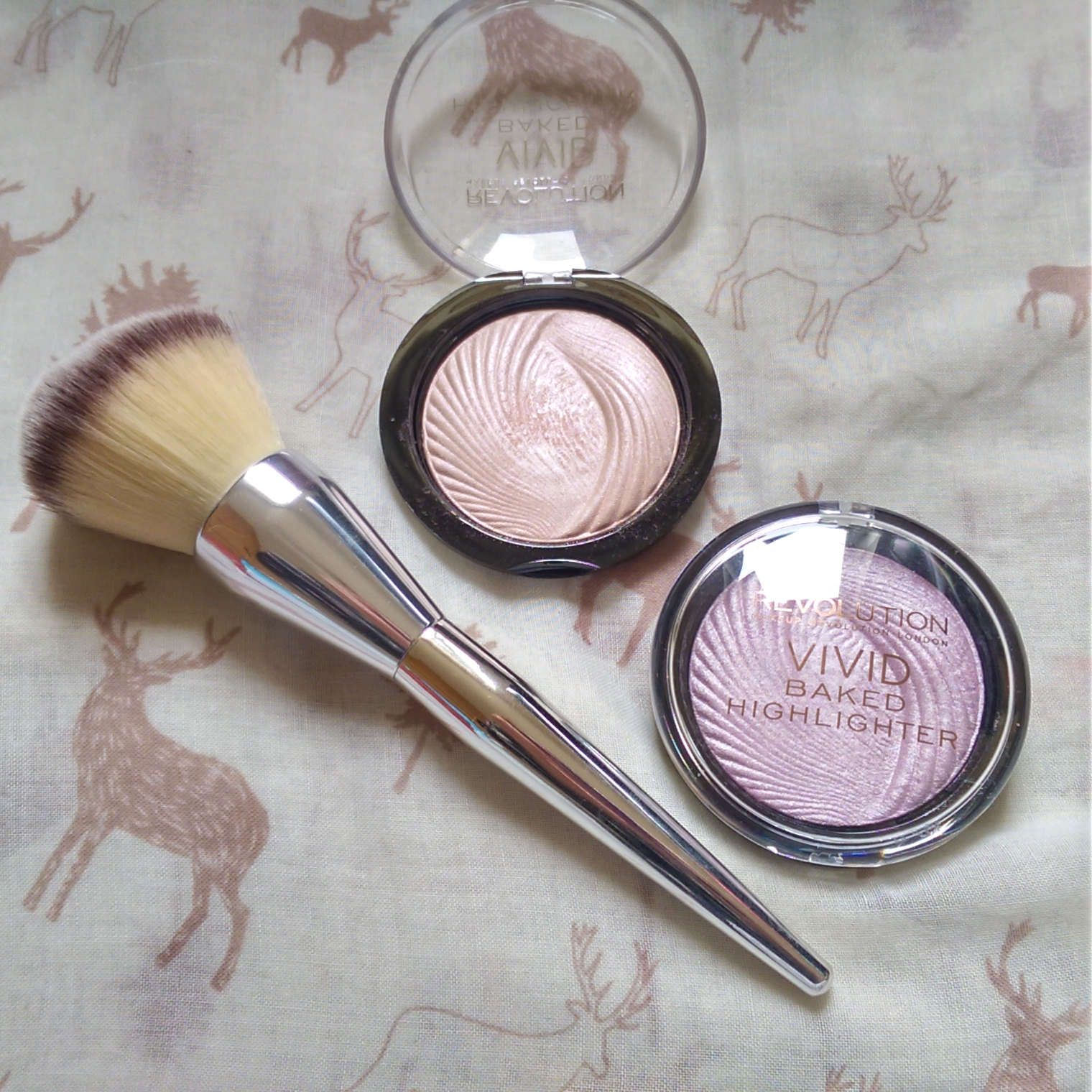 Revolution Vivid Baked Highlighters in Pink Lights and
