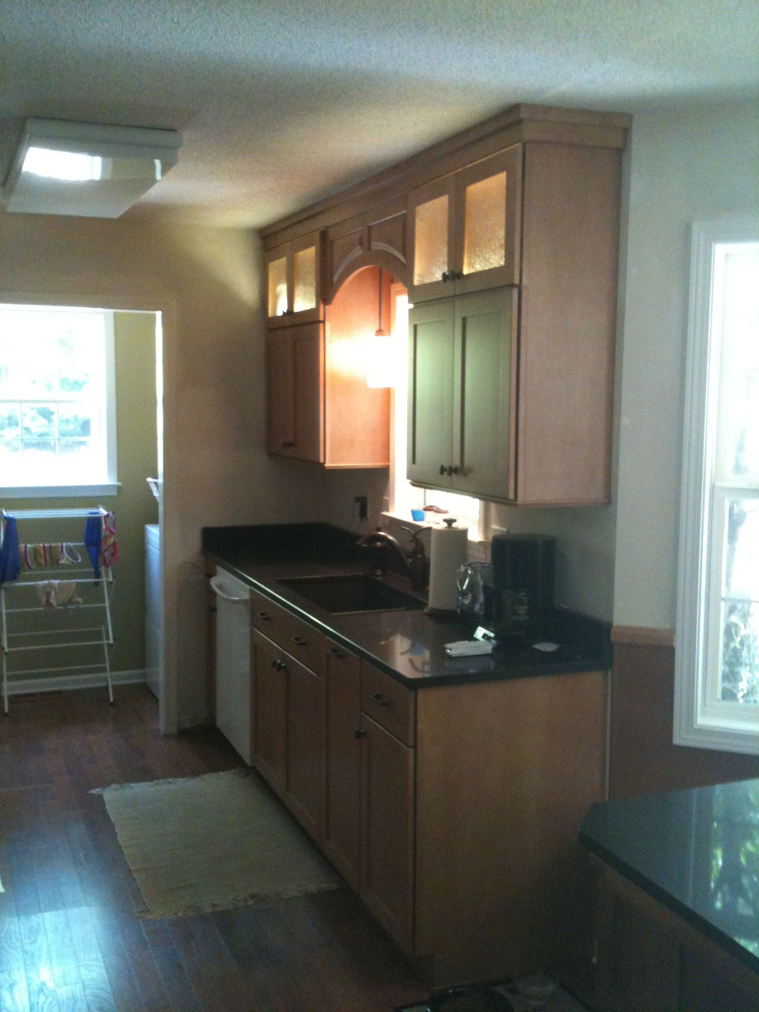 Stacked Wall Cabinets Make Small Galley Kitchens Look Big Small Galley Kitchens Kitchen Addition Cozy Kitchen