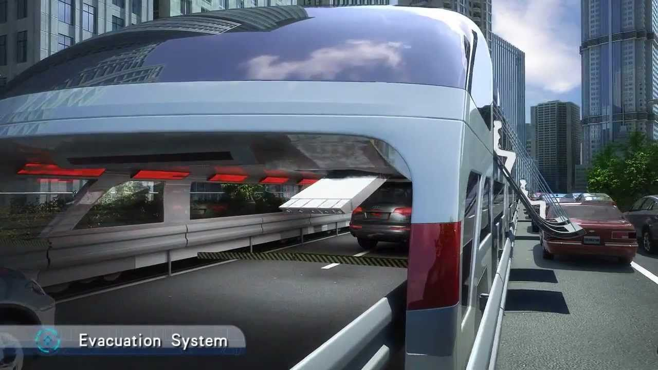 Incredible way of future transportation-Straddling Bus(3D bus) | The ...