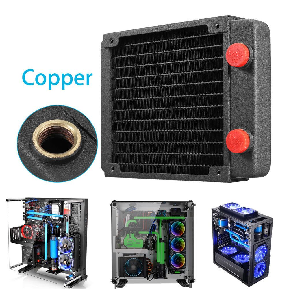 Full Copper 120mm 13 Tubes Computer Pc Water Cooling Radiator Cpu