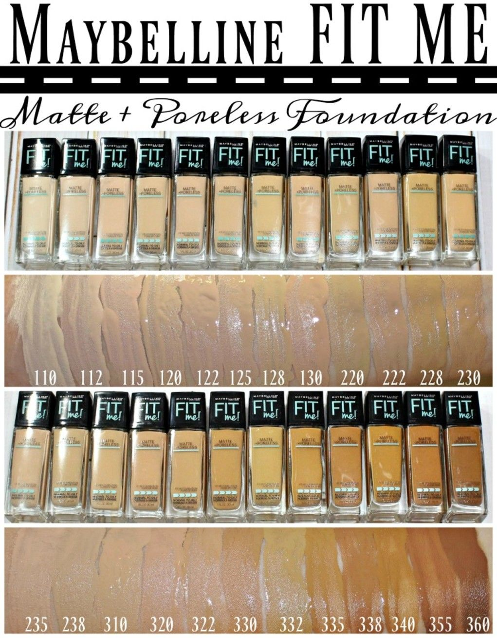 Maybelline fit me matte poreless foundation powder swatches matte poreless foundation powder note either shade 228 or 230 for me nvjuhfo Choice Image