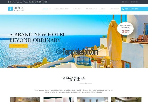 Premium Wordpress Themes Travel Booking Template #wordpress #booking ...