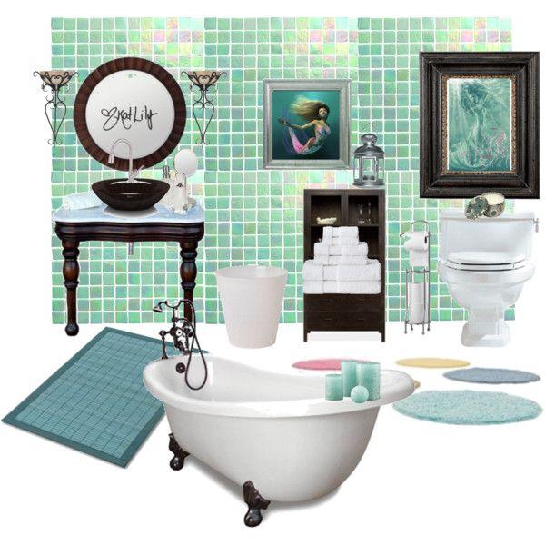 Lovely Mermaid Bathroom Theme House Decor Ideas