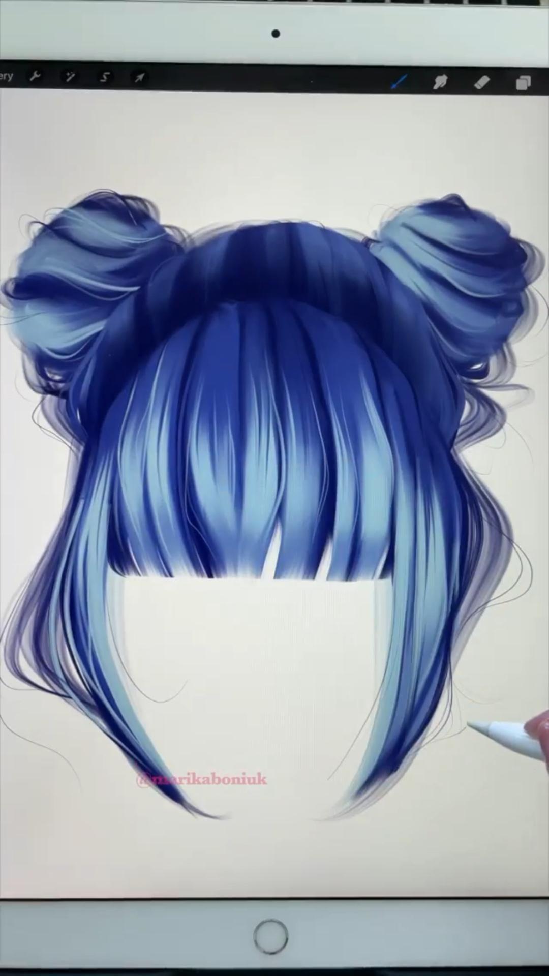 Hair Drawing Process👩🦳✨