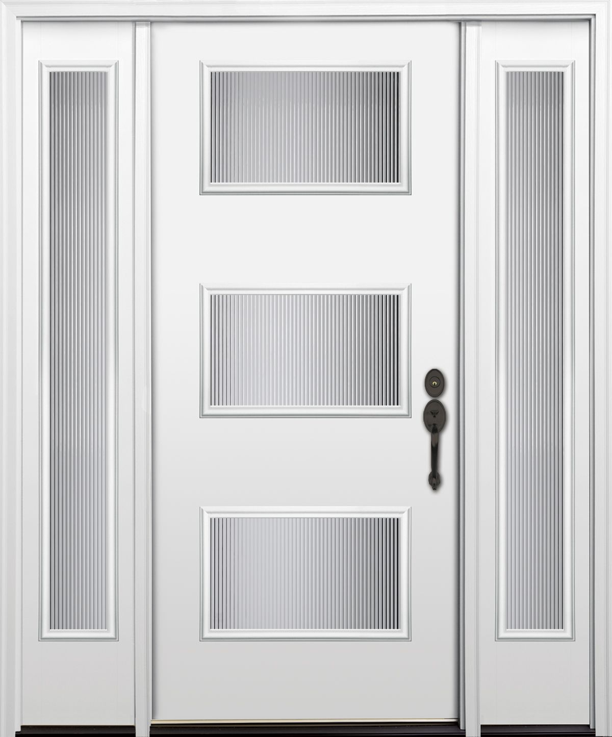 Contemporary black front door clopay energy star smooth contemporary black front door clopay energy star smooth fiberglass entry door with clarion frosted glass windows and sidelights optional nickel h eventelaan Image collections
