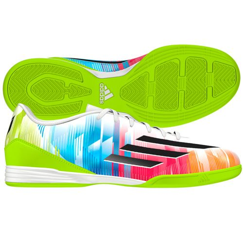 Adidas Mens F10 Messi Indoor Soccer Shoes Soccer Shoes Futsal Shoes Soccer Gear