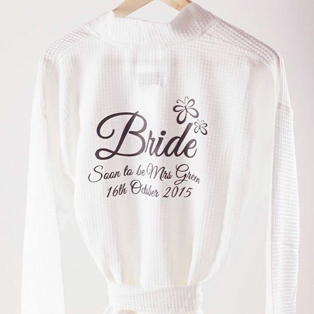 Bride dressing gown from www.pure-treats.com. Custom design for ...