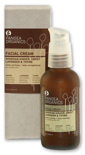 Pangea Organics Facial Cream Nigerian Ginger Sweet Lavender Thyme For Combination Skin 60ml Organic Facial Creams Facial Cream Skin Care Toner Products