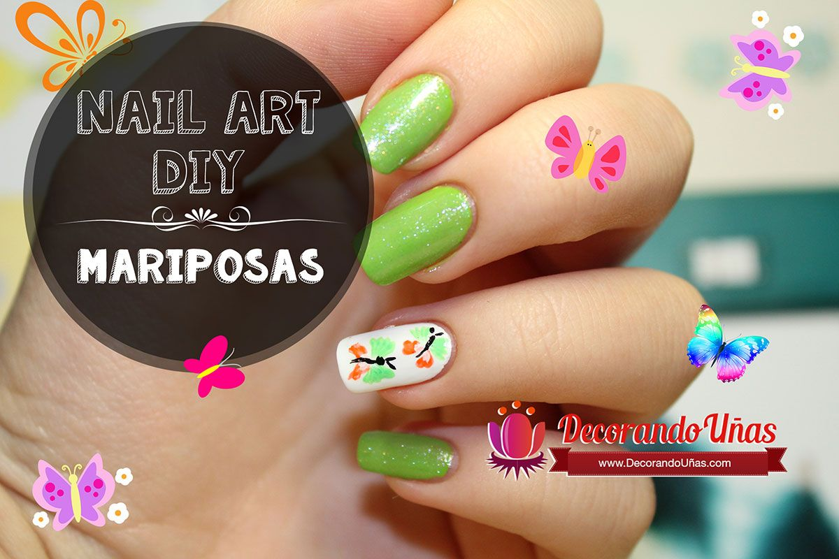 Decoración De Uñas Paso A Paso Uñas Decoradas Con Mariposas Nail Art Diy Tutorial