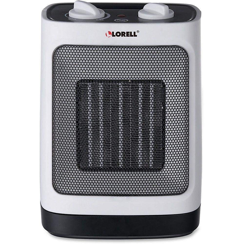 Lorell Electric Adjustable Ceramic Heater, White