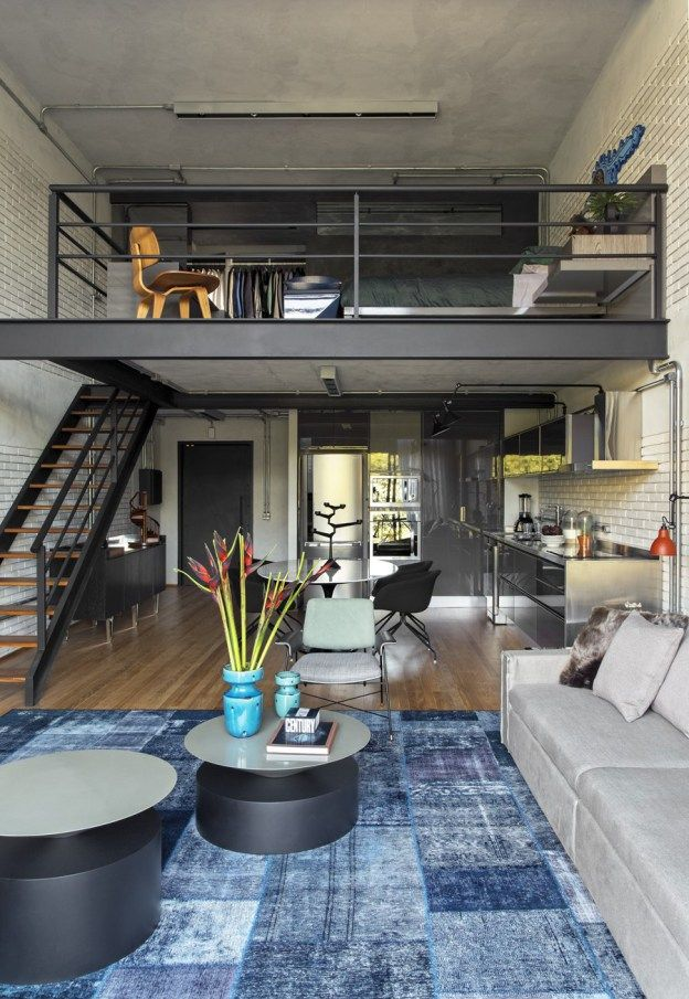 This 100 M2 Loft With Structure And Apparent Installations Is Located In The Noble Neighborhood Of Morumbi Loft Interior Design Condo Interior Loft Interiors