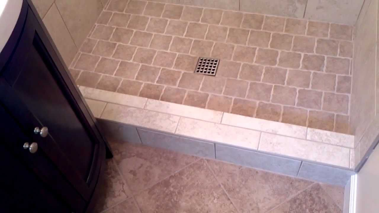 Install a tile shower in a small bathroom