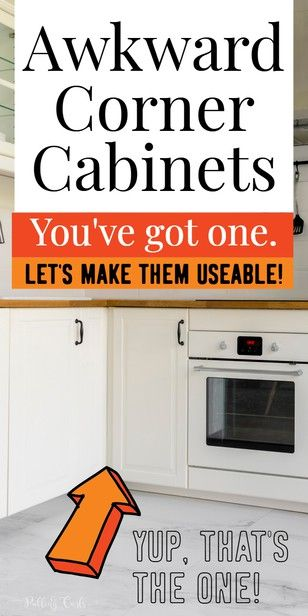 How to Organize Corner Cabinets - Corner cabinet, Organization, Corner kitchen cabinet, Organization inspiration, Declutter your home, Household hacks - Organizing corner cabinets can be REALLY hard  They are often awkward but do have good storage space  In this post, I share some of the ways I organized mine an how a simple $15 changed