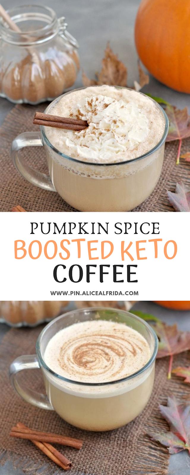 Pumpkin Spice Boosted Keto Coffee #pumpkinspiceketocoffee Pumpkin Spice Boosted Keto Coffee - PIN ALICE ALFRIDA #pumpkinspiceketocoffee