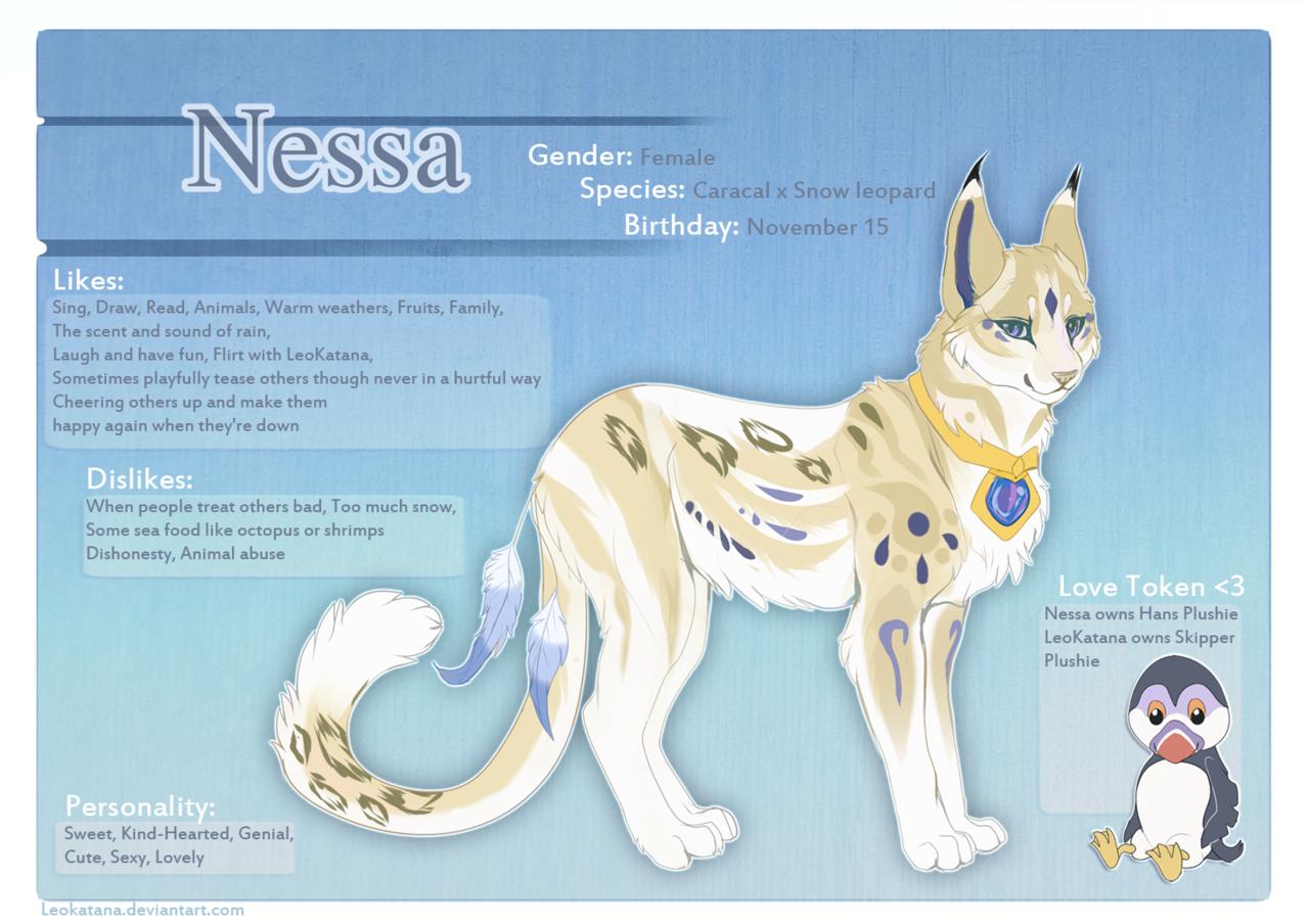 Nessa Fursona ref sheet by LeoKatana deviantart com on