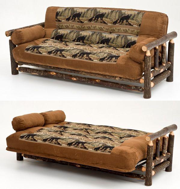 Hickory Futon Many Rustic Wildlife Fabrics Available Futons Furniture
