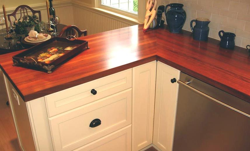 Santos Mahogany Wood Countertop In Manasquan Nj