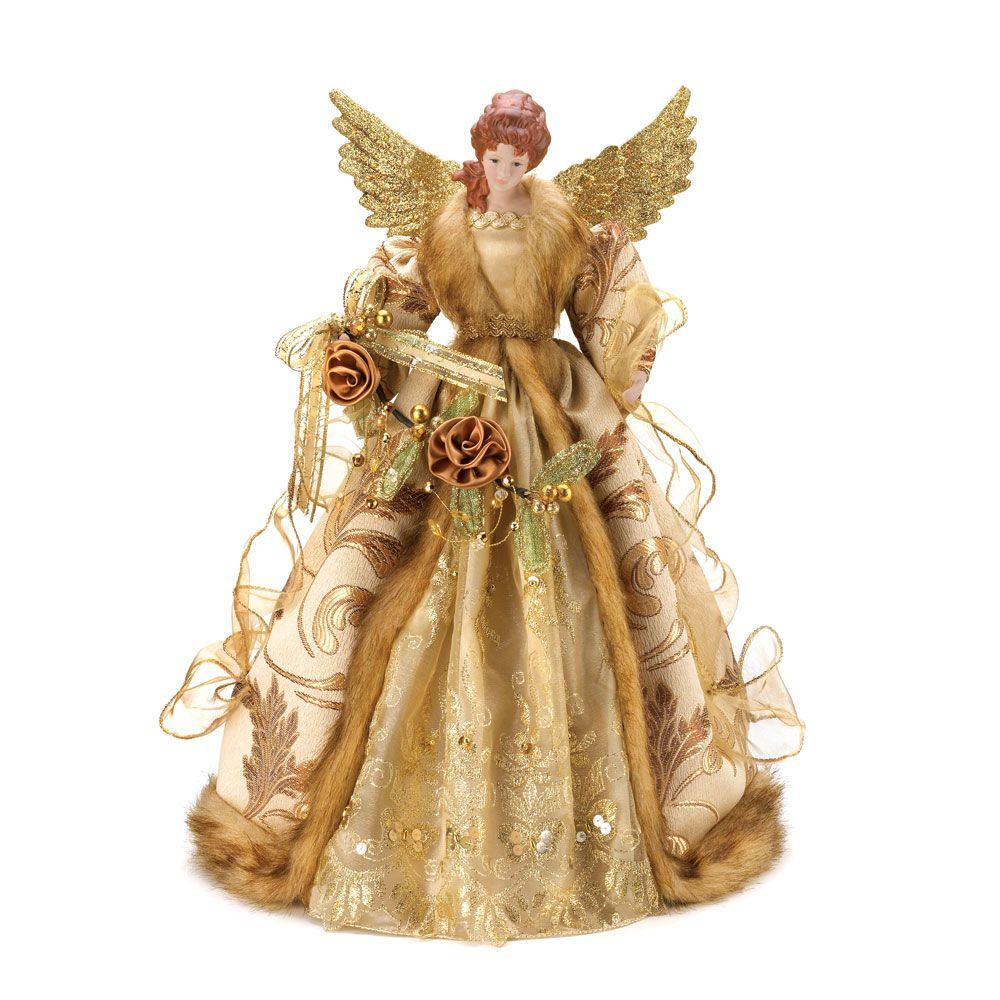 A Tree Topper Or Treetopper Is A Decorative Ornament Placed On The  - Christmas Tree Angel Toppers
