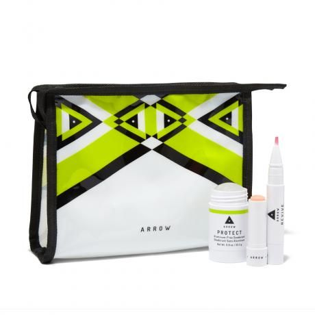 Checking off everything on our daily to-do list usually takes up 99% of our energy—meaning looking our best isn't always a piece of cake. Luckily, that's where this kit from Birchbox brand ARROW comes in. Each breathable, long-wearing product can fit into every step of our most hectic days, whether we're short of breath (serious boxing class) or short on time (jam-packed iCal).