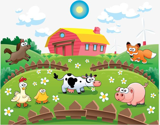 Cartoon Farmhouse Farmhouse Cartoon Cows Png Transparent Clipart Image And Psd File For Free Download Farm Animals For Kids Farm Cartoon Animals For Kids