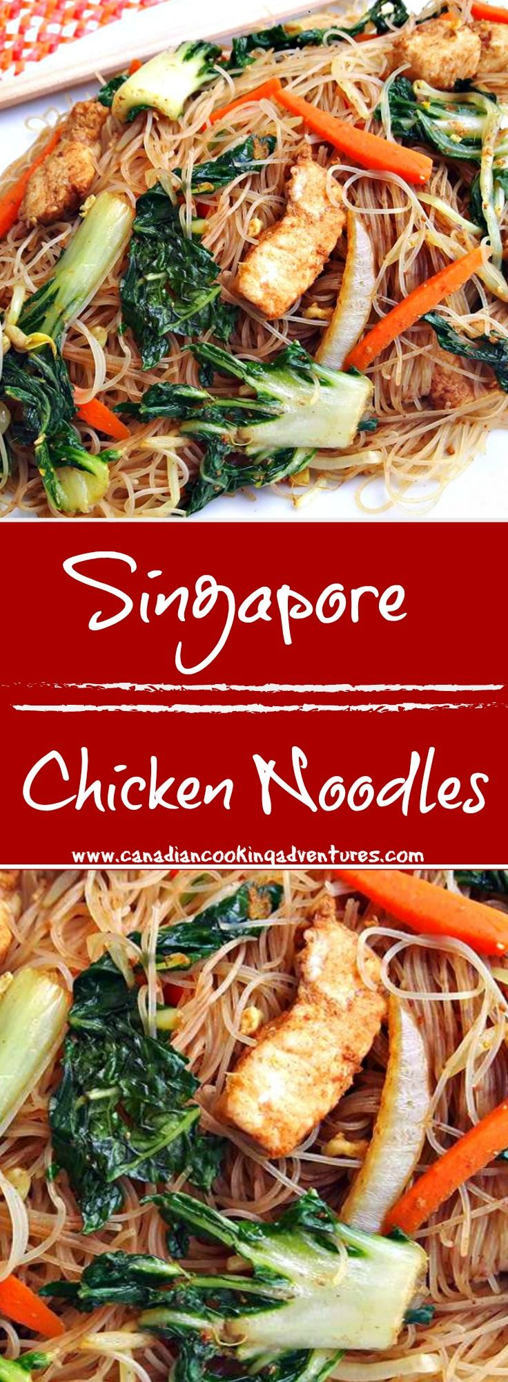 Singapore Chicken Noodles Whole Food Recipes Asian Recipes Recipes