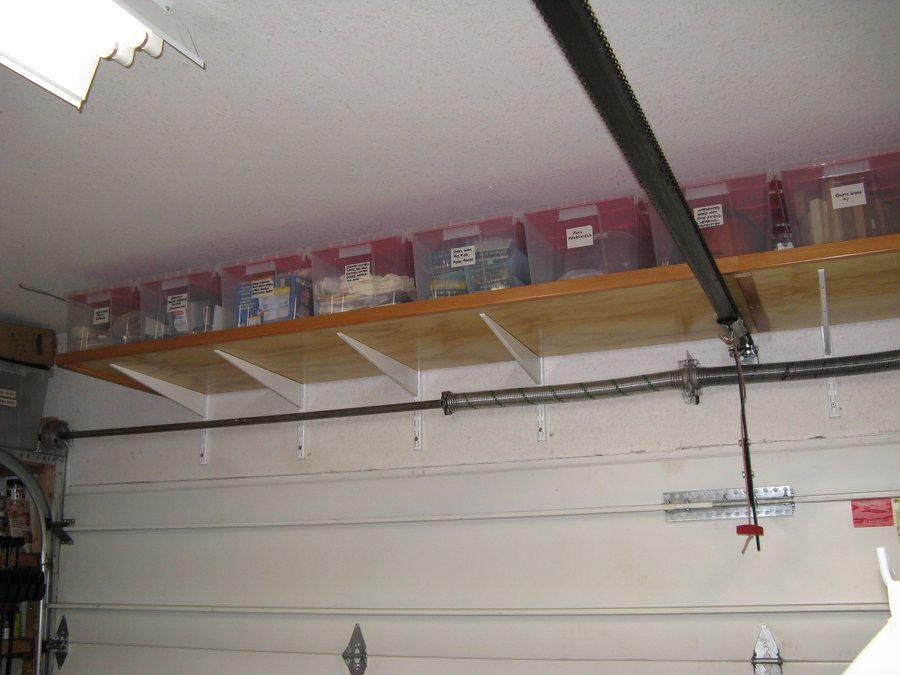 Over Garage Door Storage Ideas Garage Ceiling Storage Garage