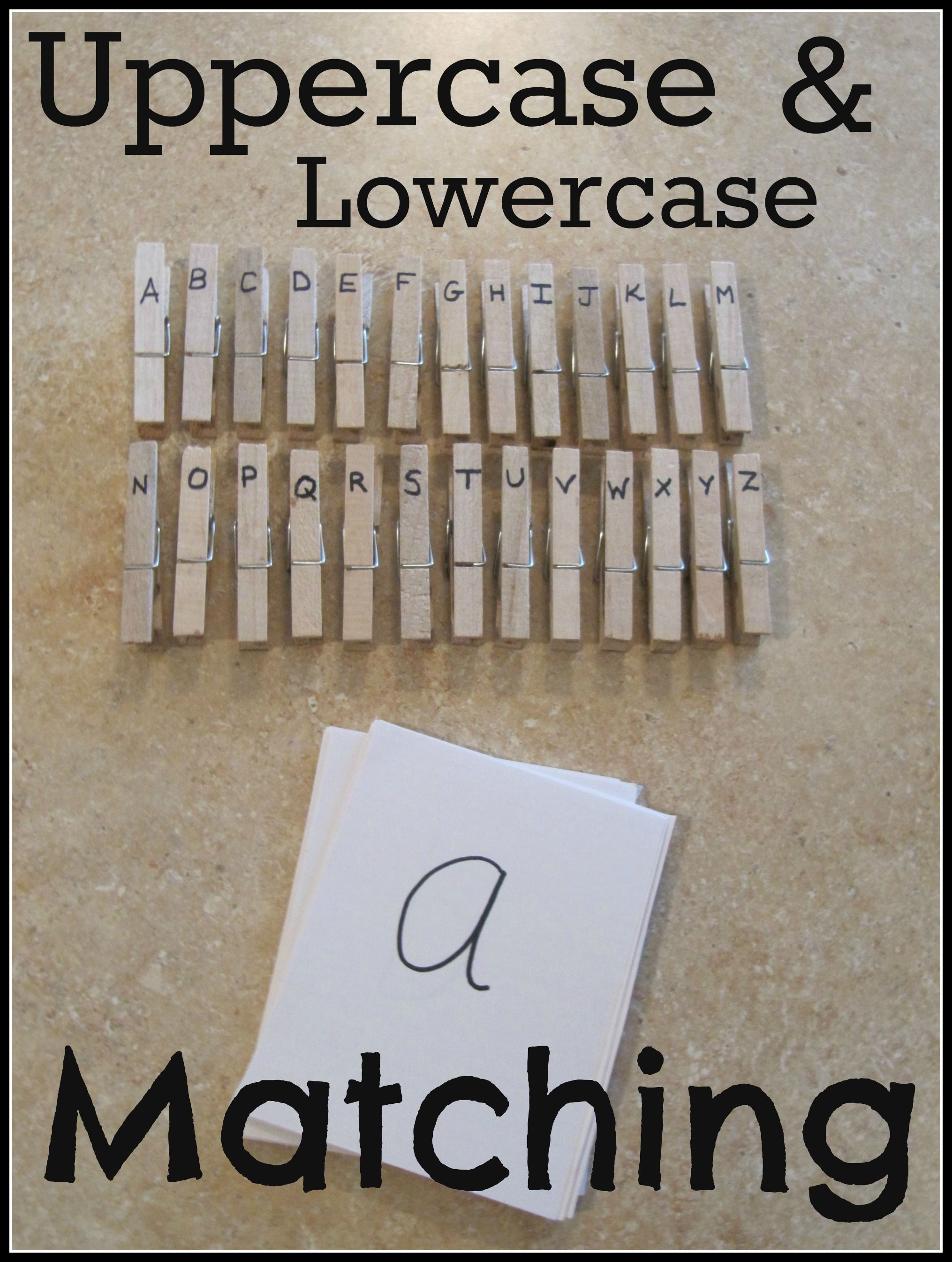 Great activity for teaching kids uppercase and lowercase letter ...