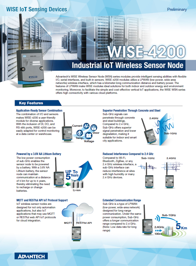 WISE IoT Wireless Sensor Node | Advantech Wireless IoT Sensing