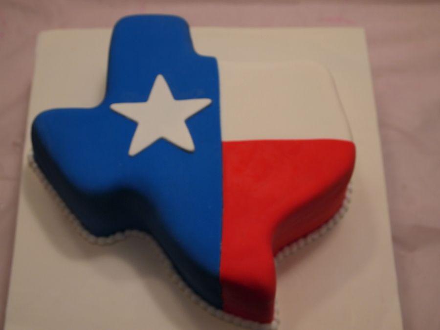 Texas Flag Wedding Cake