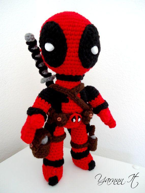 Deadpool inspired Amigurumi - Crochet doll (choose option ...
