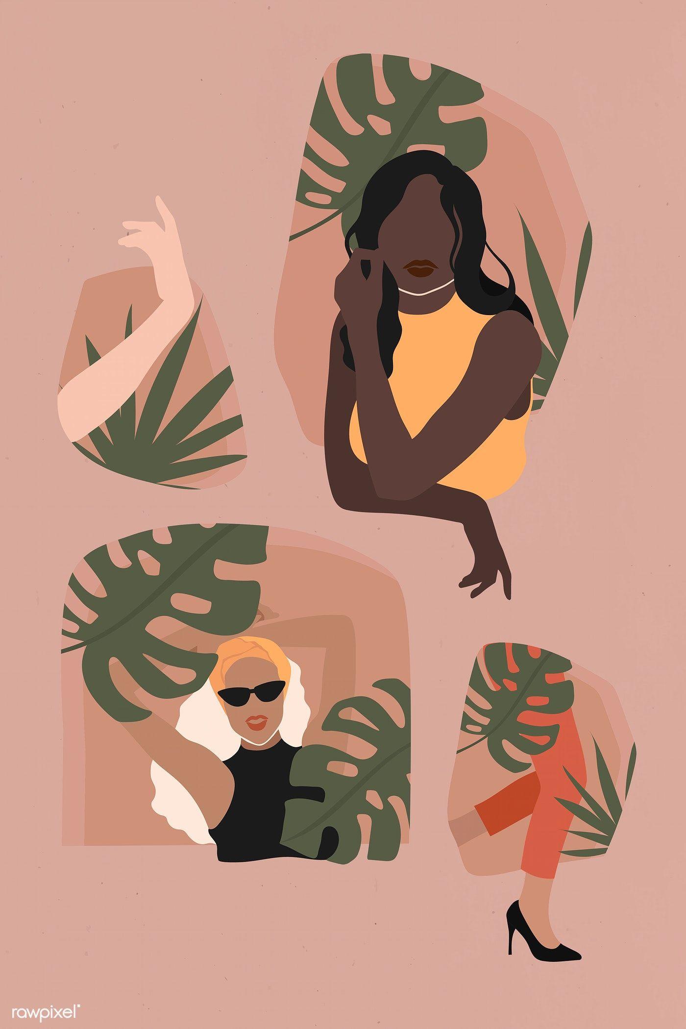 Download Premium Illustration Of Female Social Media Influencers Illustration Art Girl Illustration Art Illustration